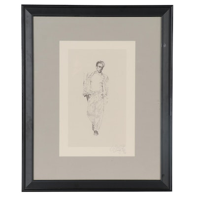 Sandy Dvore Offset Lithograph after Roy Schatt of James Dean, Late 20th Century