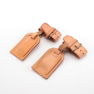 Louis Vuitton Leather Luggage Tags and Poignets