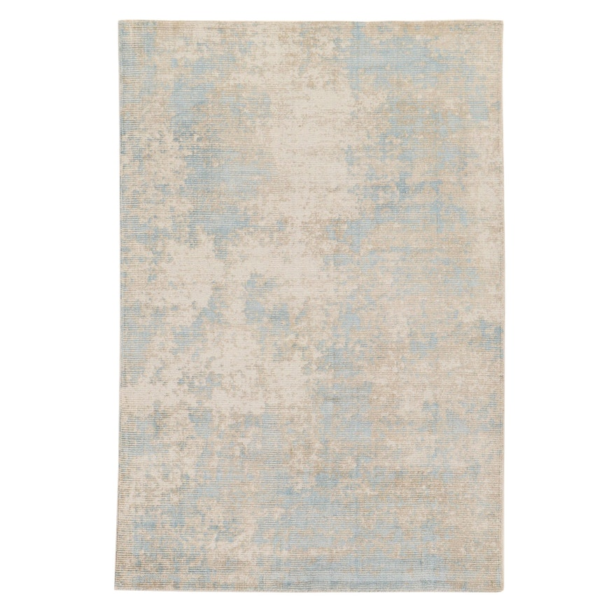 5'1 x 7'7 Hand-Knotted Indo-Turkish Oushak Rug, 2010s