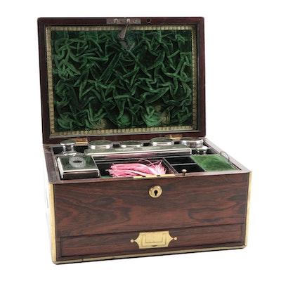 George Reid Sterling and Rosewood Gentleman's Dressing Box, Circa 1836