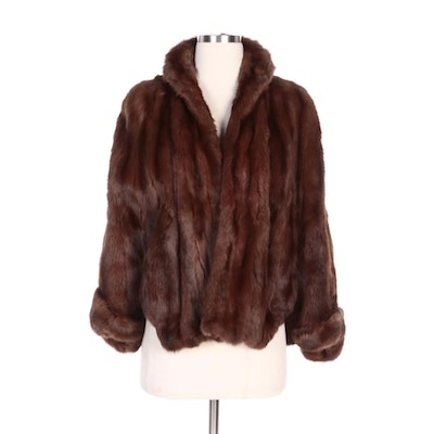 Mahogany Dyed Squirrel Fur Capelet From Edwards of Chicago