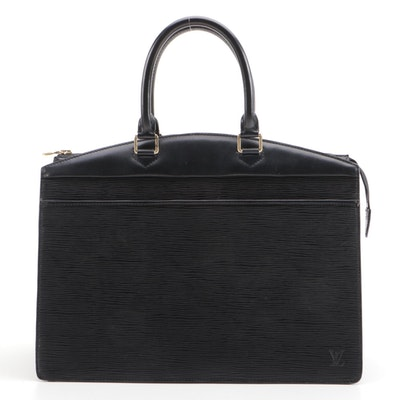 Louis Vuitton Riviera Bag in Black Epi and Smooth Leather