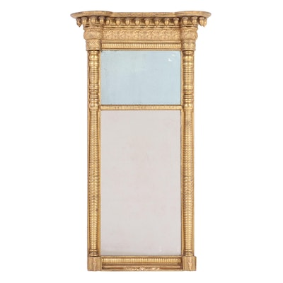 American Empire Gilt Pier Mirror, Early 19th Century