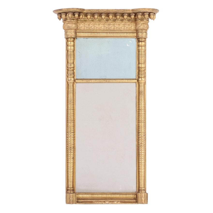 American Empire Gilt Pier Mirror, Early 19th Century