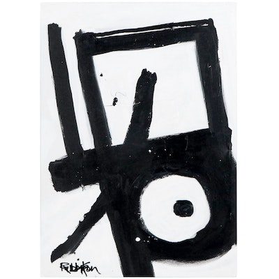 """Robbie Kemper Acrylic Painting """"Square Dot Bend"""""""
