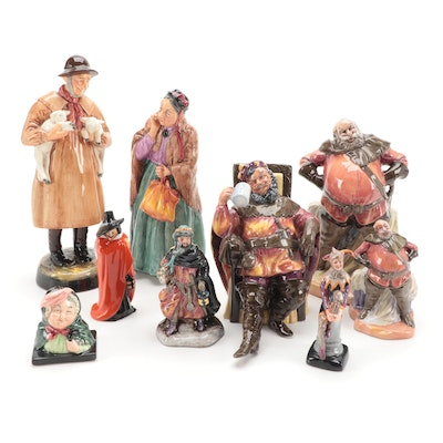 """Royal Doulton """"Lambing Time"""" and More Figurines, Mid to Late 20th Century"""