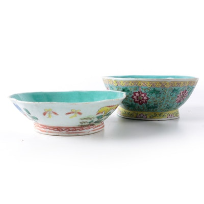 Chinese Famille Vert Bowls