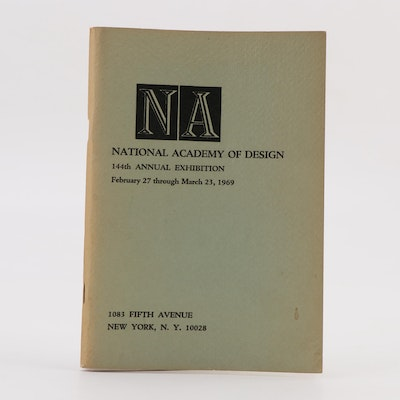 """""""National Academy of Design 144th Annual Exhibition"""" Booklet, 1969"""
