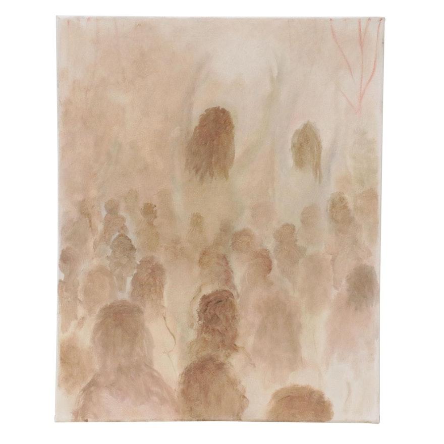 "Philip the Transplant Oil Painting ""Girl Sabbath,"" 2021"