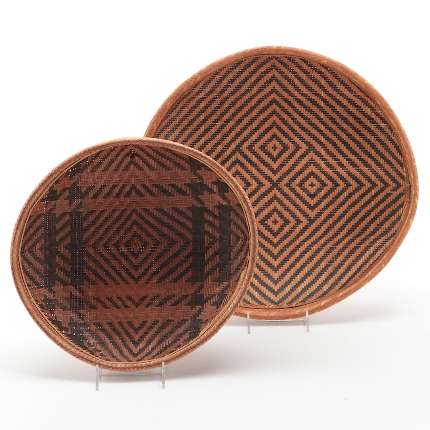 South American Woven Basket Trays, Colombia