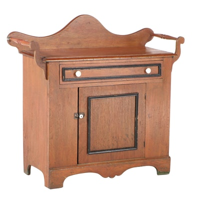 Victorian Walnut and Parcel-Ebonized Washstand, Late 19th Century