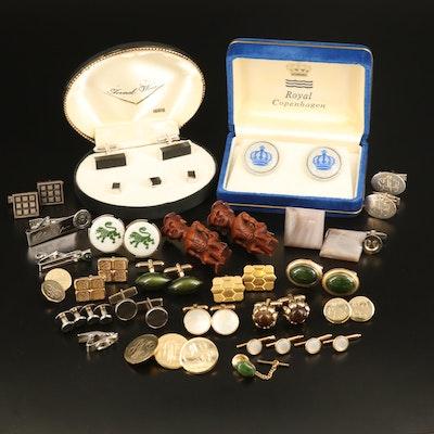 Fenwick & Sailors Royal Copenhagen Crown Cufflinks and Assorted Jewelry