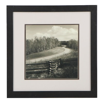 Offset Lithograph of Road Landscape, 21st Century