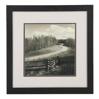 Offset Lithograph of Road Landscape, 21st Century