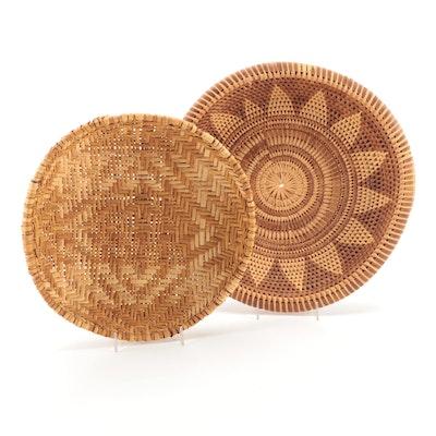 Jemez and Pima Style Woven Winnowing Trays