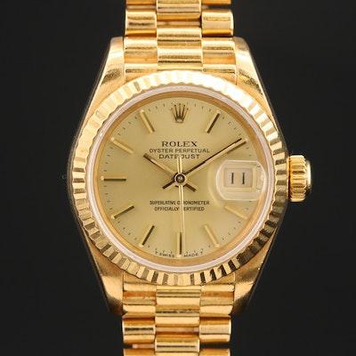 1986 Rolex Datejust President 18K Yellow Gold Automatic Wristwatch