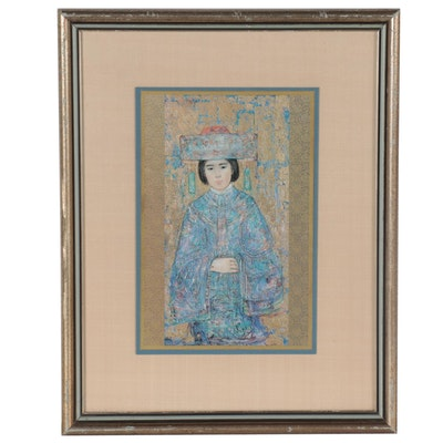 "Offset Lithograph after Edna Hibel ""Chinese Bride"""