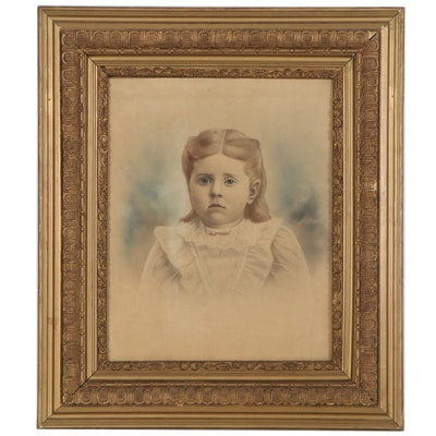 Crayon Portrait of a Child, Early 20th Century