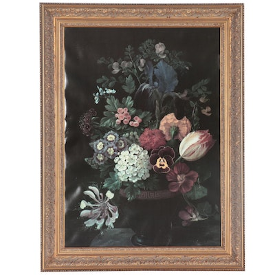Flemish Style Floral Still Life Offset Lithograph