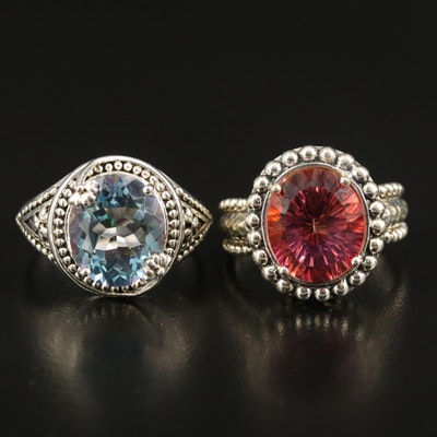 Sterling Mystic Quartz Rings