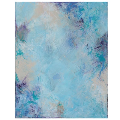 """Sanna Abstract Acrylic Painting """"Looking to the Heavens,"""" 2021"""