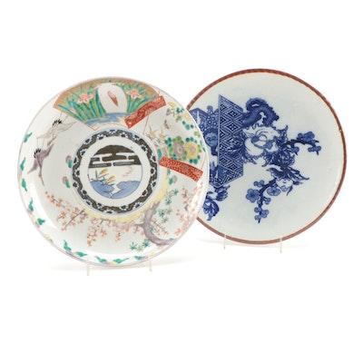 Japanese Imari and Igezara Porcelain Chargers