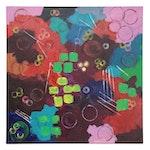 "Thomas Conrad Abstract Acrylic Painting ""Rose Garden,"" 2020"