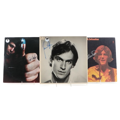 James Taylor, Don McLean and John Sebastian Autographed Records with COAs