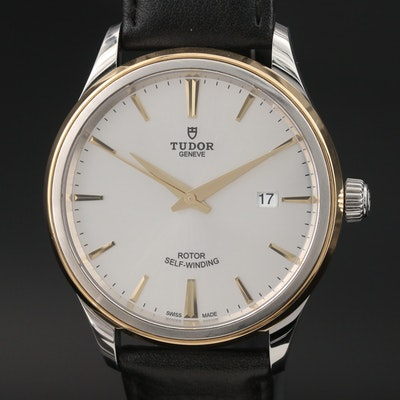 """Tudor """"Style 41"""" 18K Yellow Gold and Stainless Steel Automatic Wristwatch"""