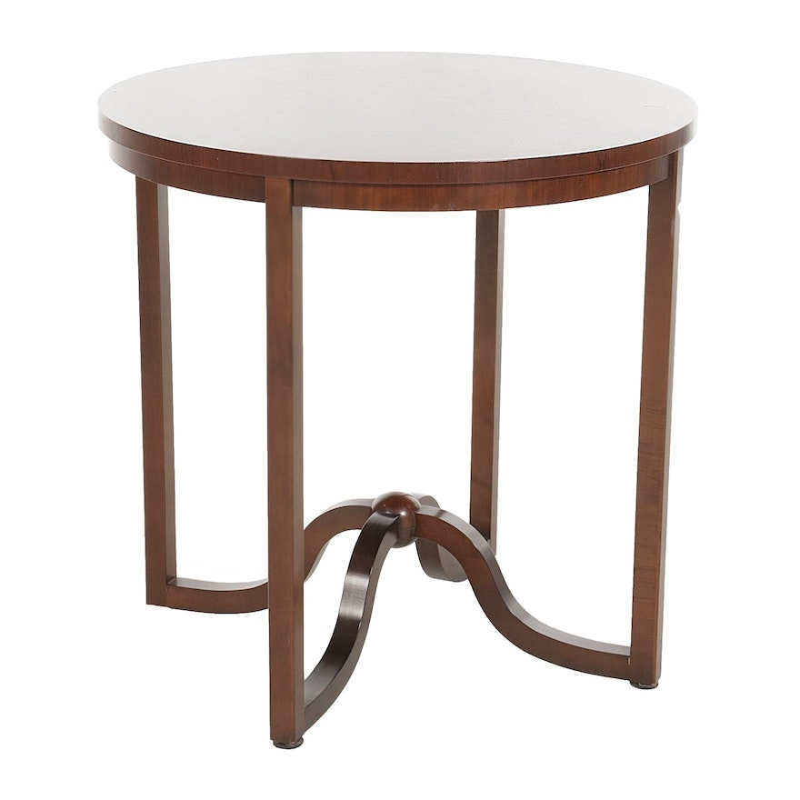 Baker Furniture Contemporary Walnut Side Table