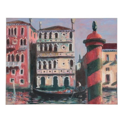 """Nino Pippa Oil Painting """"Venice-Ca'Dario the Cursed Palace,"""" 2012"""