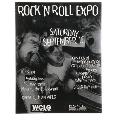 Green Day Themed Rock 'N Roll Expo Poster