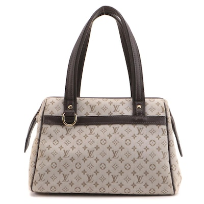 Louis Vuitton Josephine PM Bag in Monogram Mini Lin Canvas and Leather
