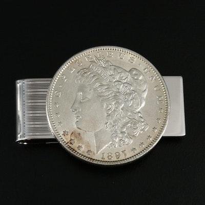 1897 Morgan Silver Dollar Money Clip