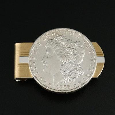 1888-O Morgan Silver Dollar Money Clip