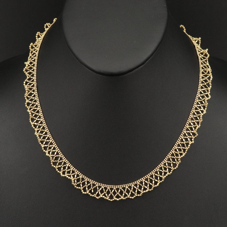 Damas 18K Lace Style Beaded Collar