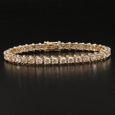 14K 10.40 CTW Diamond Line Bracelet