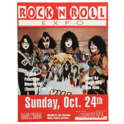 KISS Pittsburgh Rock 'N' Roll Expo Poster