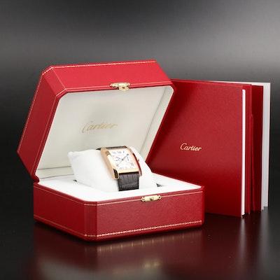 "Cartier Tank ""MC"" Chronograph 18K Rose Gold Wristwatch"