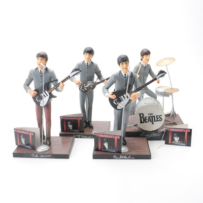 """The Beatles on """"The Ed Sullivan Show"""" Figurines with Instruments"""