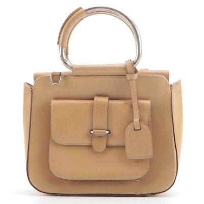 Gucci Tan Leather Top Handle Bag