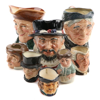 """Royal Doulton """"Beefeaters"""" and More Character Jugs, Mid to Late 20th Century"""