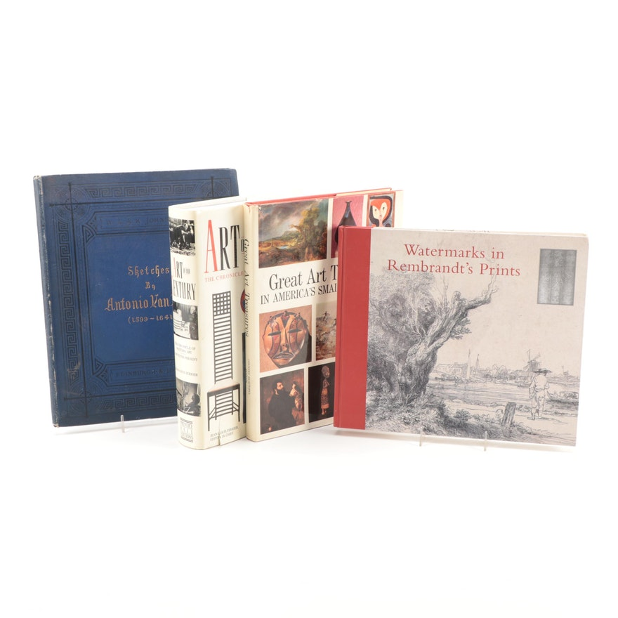 """""""Sketches by Antonio Van Dyck"""" by E. Mitchell and More Art Reference Books"""