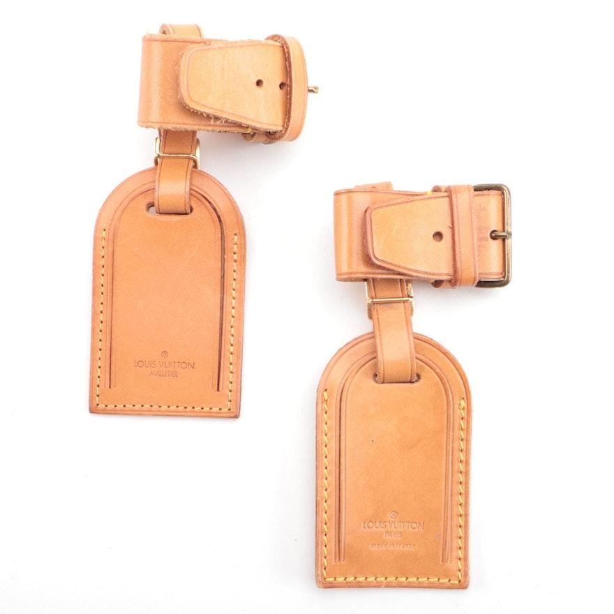 Louis Vuitton Vachetta Leather Poignet and Luggage Tag Sets, Vintage