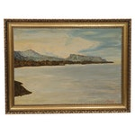 Rundell Mountainscape Oil Painting, 20th Century