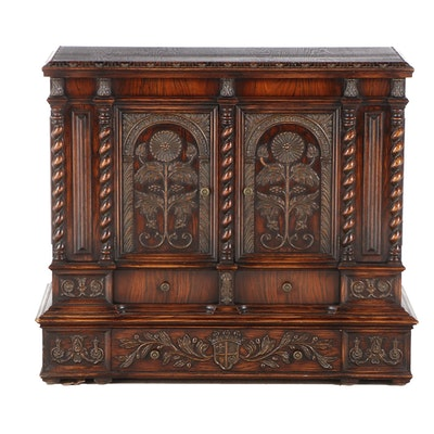 Jacobean Style Carved Oak Server, Early to Mid 20th Century