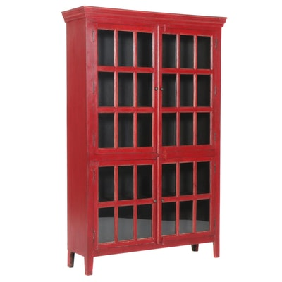 """Crate & Barrel """"Rojo"""" Glass Front China Cabinet"""