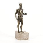 Replica Spelter Sculpture of a Riace Warrior
