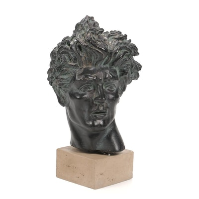 "Cast Resin Sculpture after Edward Melcarth ""Heroic Head"""