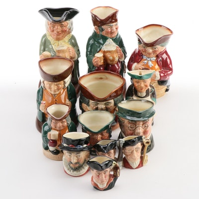 """Royal Doulton """"Happy John"""" and Other Toby and Character Jugs"""